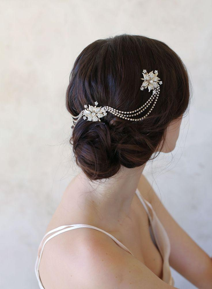 Wedding - Triple Flower And Swag Headpiece - Style #514