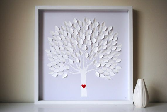 Wedding Guest Book Alternative - 3D Wedding Tree Personalized ...