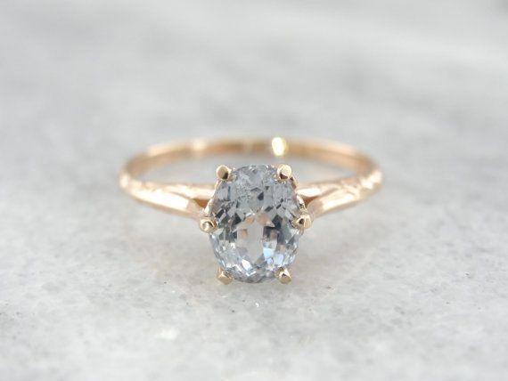 Hochzeit - Pink Emerald Cut 6x8mm VS Morganite Ring SI/H Diamonds Wedding Ring 14K Rose…