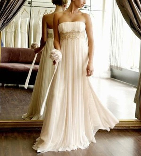 Boda - Empire Chiffon Long Wedding Gown