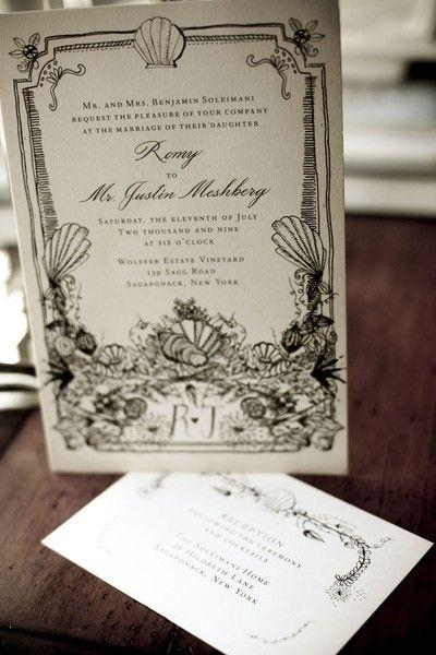 Mariage - Black-white-calligraphy-invitation-vintage - Once Wed