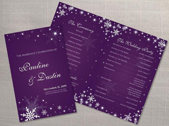 Wedding - DIY Printable Wedding Program Template