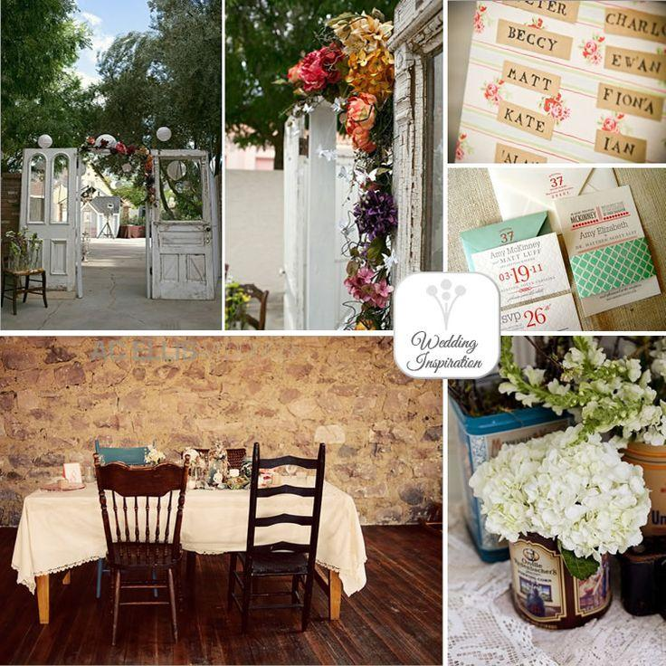 Wedding - Shabby Chic Garden Style Wedding Inspiration