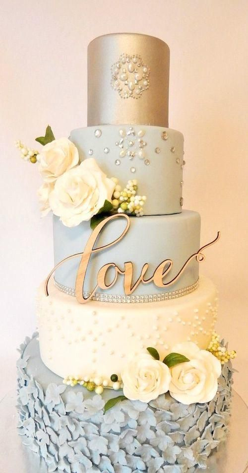 Cake - Elegant Wedding Cake Toppers With Script #2362049 - Weddbook