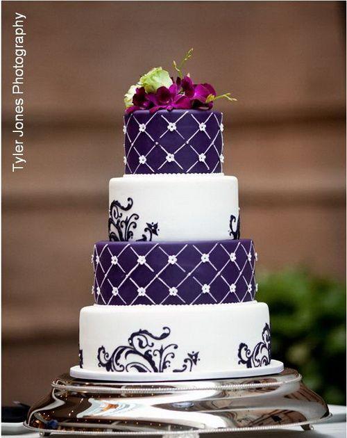 Свадьба - Purple Wedding Cakes