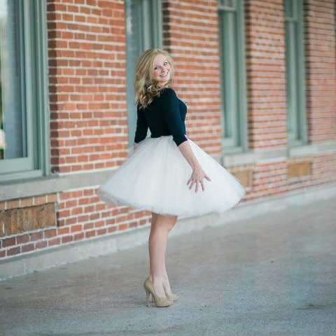 Clarisa - Champagne Tulle Skirt, Ivory Tulle Skirt, 7-Layers Puffy ...