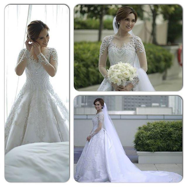 Gorgeous lace 2016 wedding dresses illusion sheer long for Winter style wedding dresses