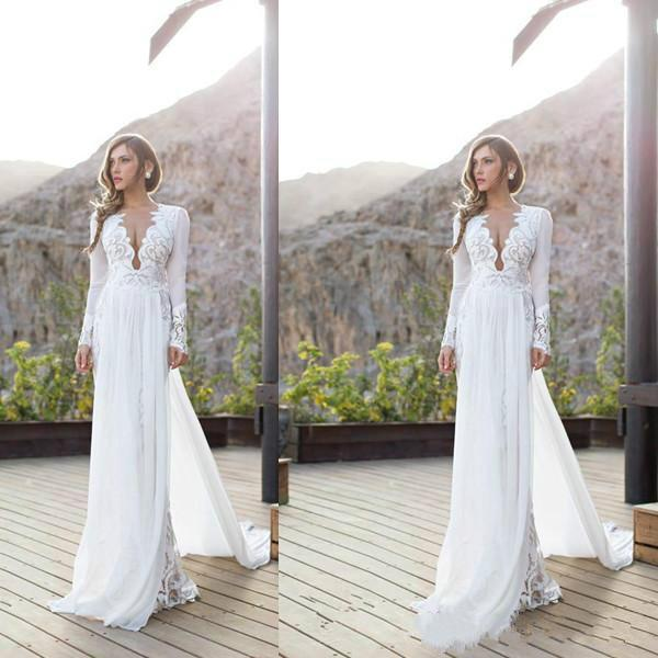 Stunning Julie Vino 2016 Wedding Dresses Garden V Neck Chiffon Spring Long Sleeve Illusion Lique Dress Style Bridal Ball Gowns Online With
