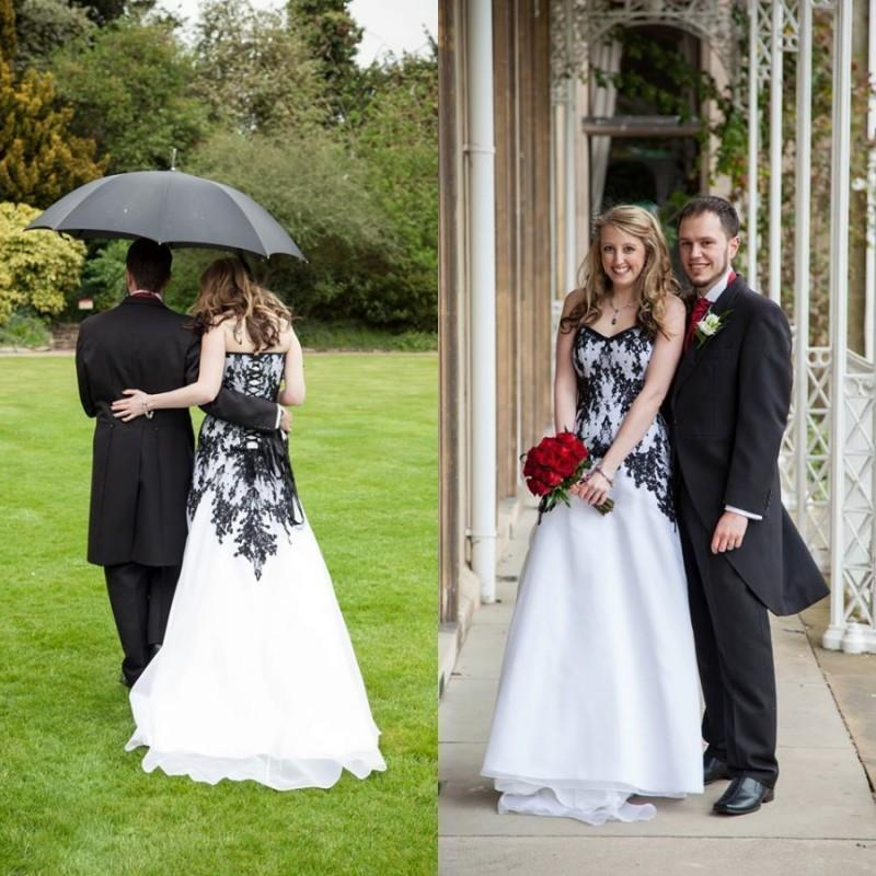 Discount Vintage Lace Gothic Plus Size Wedding Dresses: Vintage Gothic Wedding Dresses 2016 Cheap A-Line Train