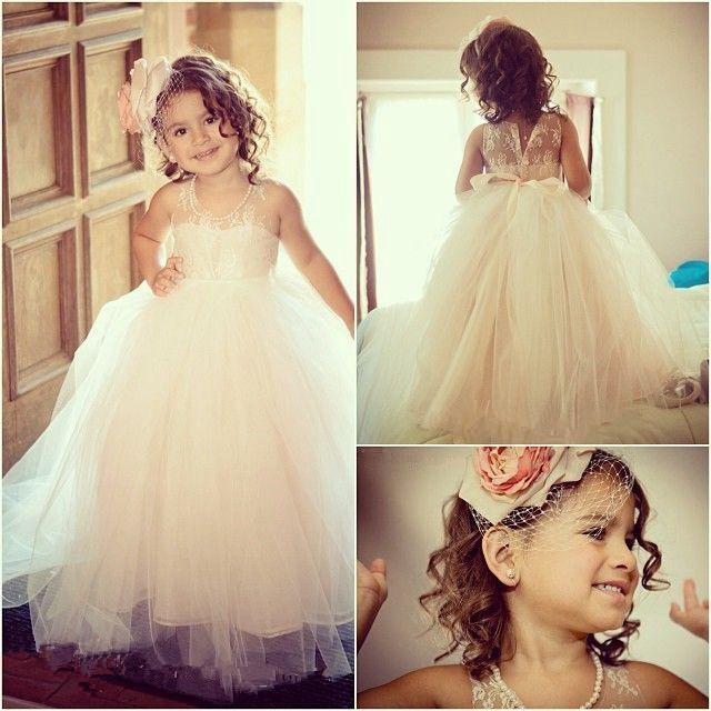 fce1042b0f598 Beautiful Girls Dress For Wedding Flower Dresses Jewel Neckline ...