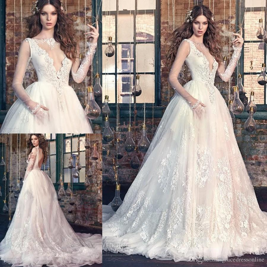Galia Lahav Wedding Dresses: Exquisite Galia Lahav Bridal 2016 A Line Backless Wedding
