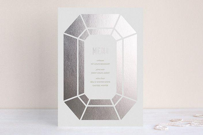 Wedding - Radiant Cut Foil-Pressed Menus By Kelli Hall