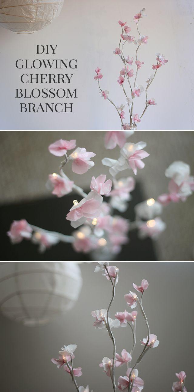 Wedding - DIY Glowing Cherry Blossom Branch