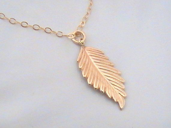 Wedding - Gold Leaf Necklace- Dainty Necklace- Simple Necklace- Gold Filled Necklace- Delicate Jewelry- Leaf Jewelry Teacher Gift For Best Friend Gift
