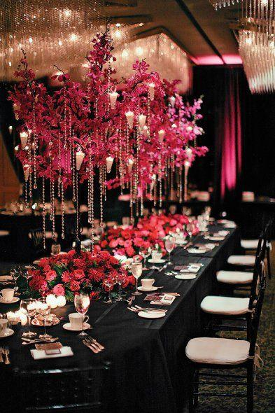 Mariage - Everything About Fuchsia & Black Themed Weddings
