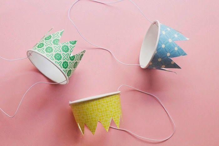 Wedding - Poppytalk: DIY Paper Cup Party Crowns