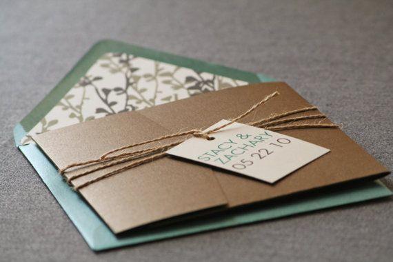 زفاف - Modern Floral Silhouette Wedding Invitation Shown In Green, Brown, And Cream, Build-Your-Invite Collection - DEPOSIT