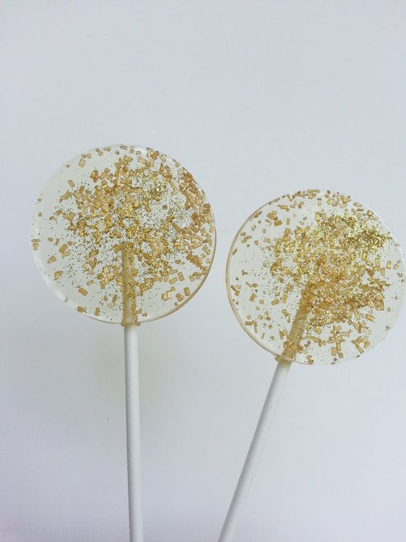 Gold Wedding Favors Hard Candy Lollipops Gold Candy Baby Shower