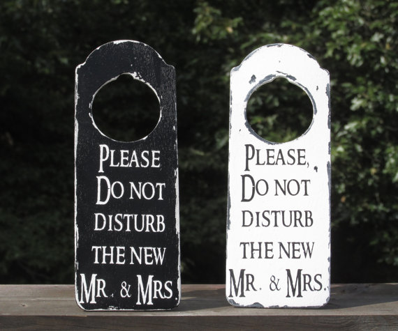 please do not disturb the new mr and mrs rustic distressed