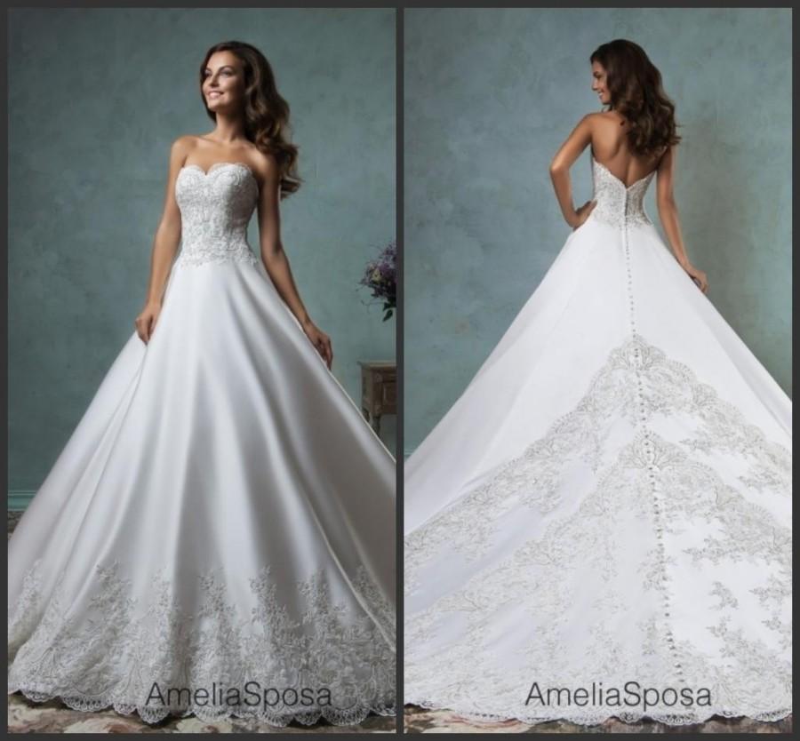 New style amelia sposa 2016 wedding dresses sweetheart for Where to buy amelia sposa wedding dress