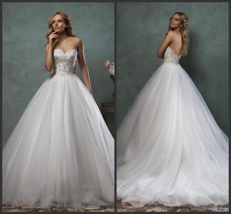Best Selling Sweetheart 2016 Amelia Sposa Wedding Dresses With ...