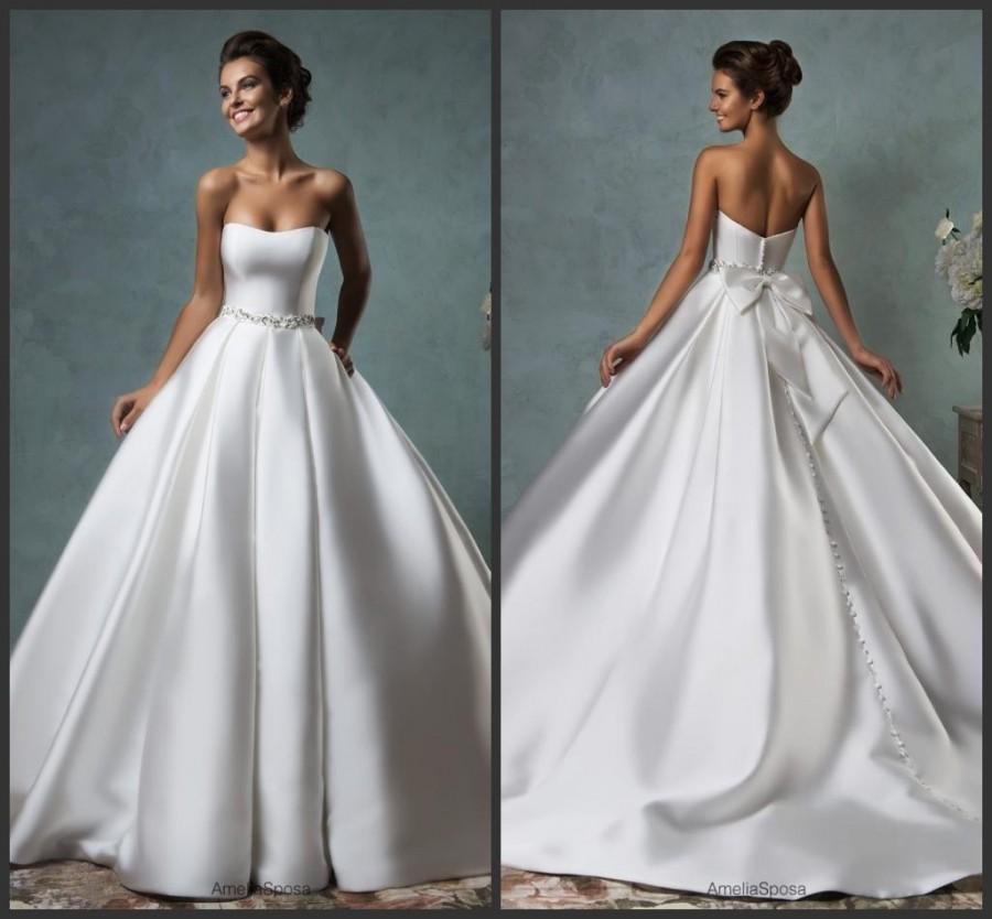 New Designer Strapless Wedding Dresses Amelia Sposa Chapel