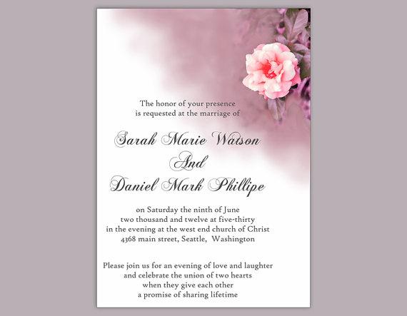 DIY Wedding Invitation Template Editable Word File Download ...