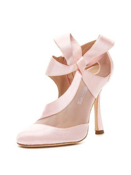 abcd4ee02d58 Pink Wedding Shoes By Oscar De La Renta - My Wedding Ideas  2364111 ...
