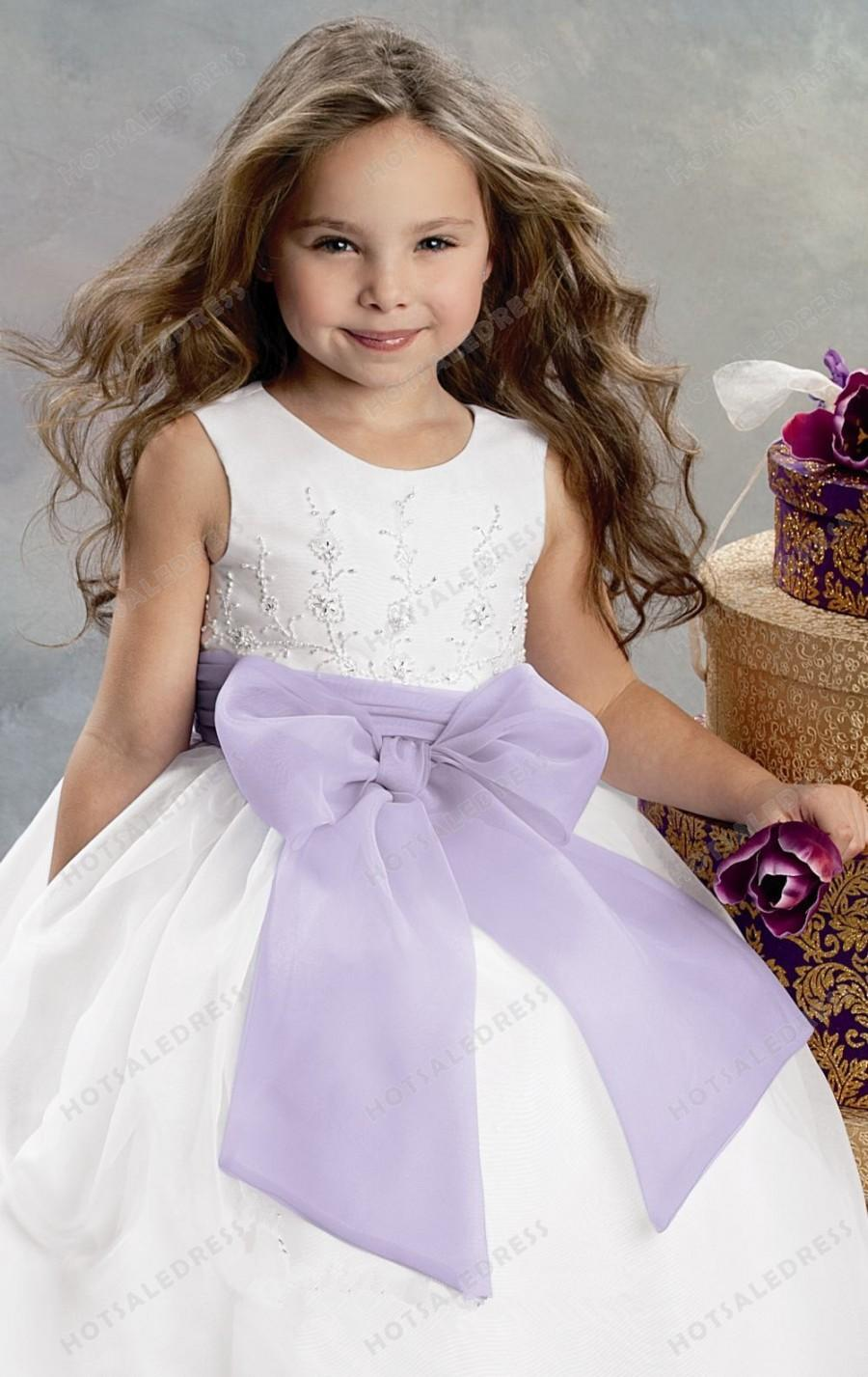 Wedding - Organza Scoop Neck Dress By Jordan Sweet Beginnings Collection L393
