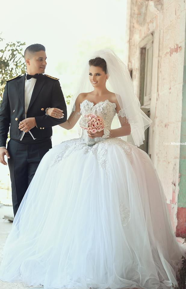 Luxury Dubai Arabic Sweetheart Ball Gown Wedding Dresses 2015 Tulle ...