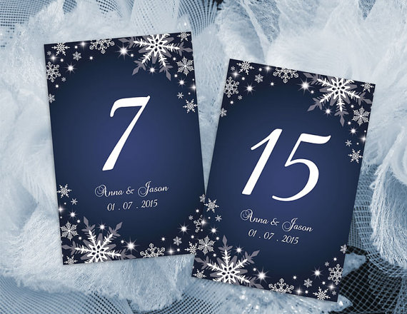 Wedding - DIY Printable Wedding Table Number Template