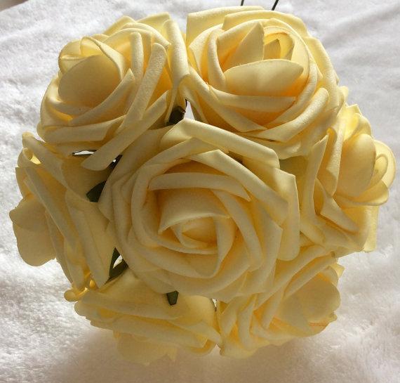 100pcs light yellow mango flowers for wedding fake foam roses pale 100pcs light yellow mango flowers for wedding fake foam roses pale yellow bridal bouquets flowers wedding table centerpiece cake decor mightylinksfo