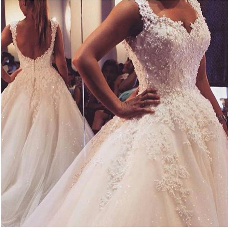 Wedding - Exquisite 2015 Spring Lace Wedding Dresses Pearls Beaded Ball Gowns Bridal Dresses With Lace Applique Real Picture Tulle A-Line Cheap Online with $153.98/Piece on Hjklp88's Store