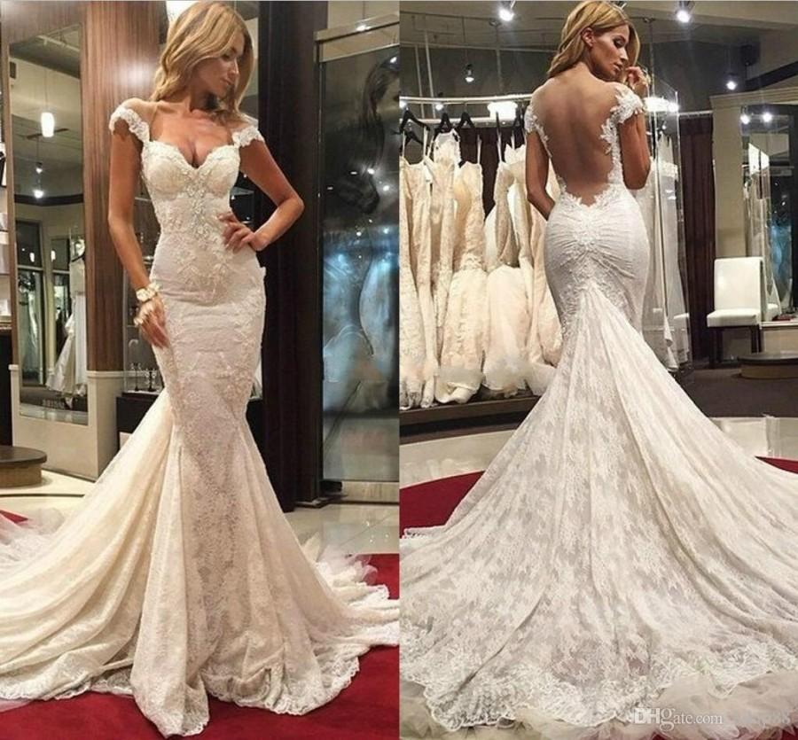 Gorgeous mermaid backless wedding dresses 2015 sweetheart for Most sexy wedding dresses