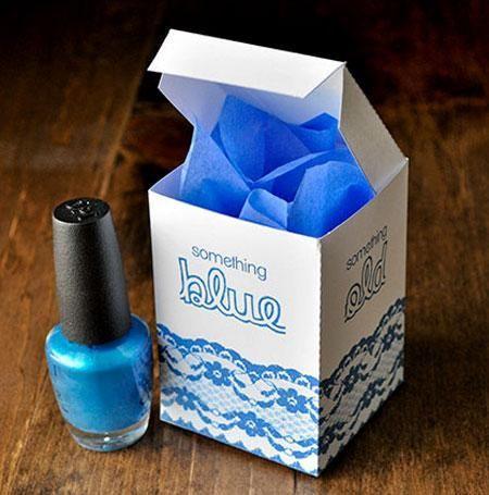 Wedding - DIY Something Blue Bridal Shower Favor