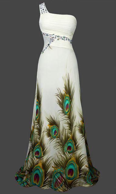 Gatsby Inspired Mermaid Sheer Vintage Look 1920 Art Deco Peacock