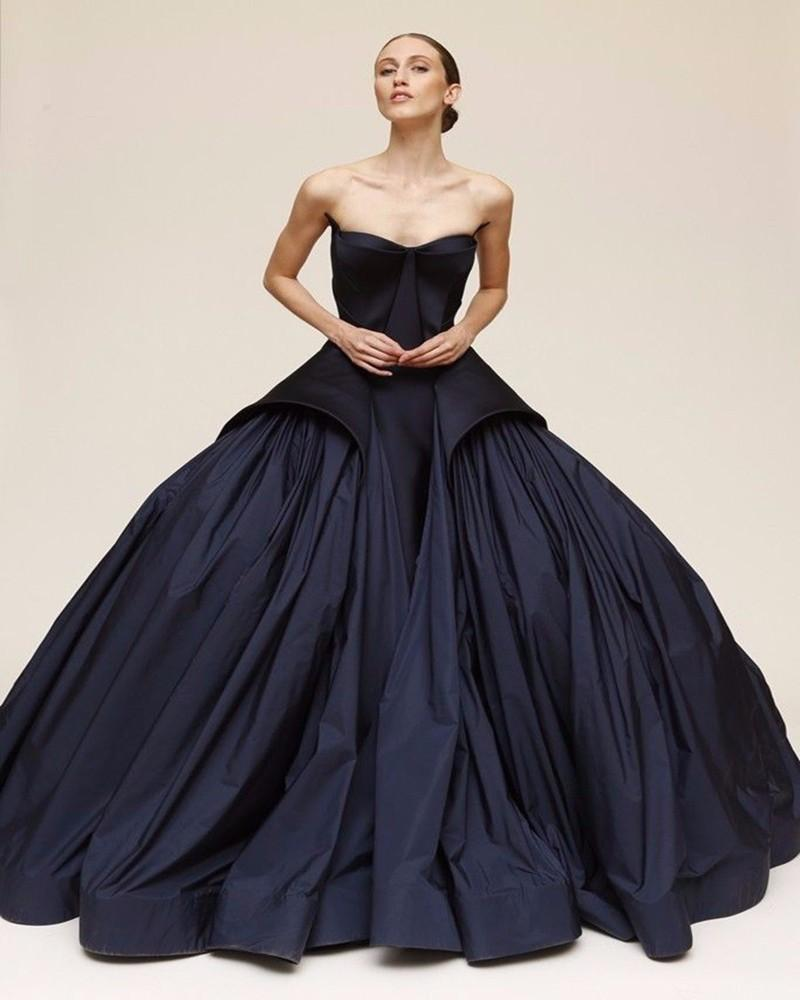 New designer 2015 long evening dresses sleeveless draped for Black designer wedding dresses