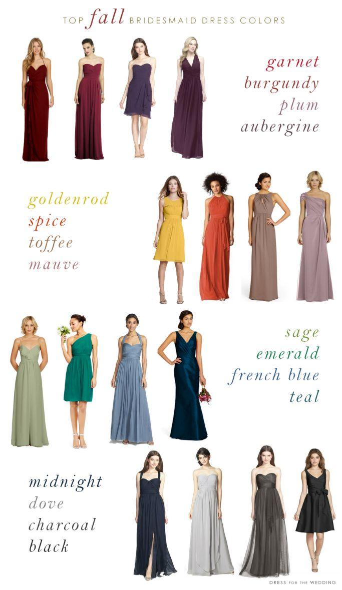 Ideas top colors for fall bridesmaid dresses 2365296 for Fall wedding dress colors