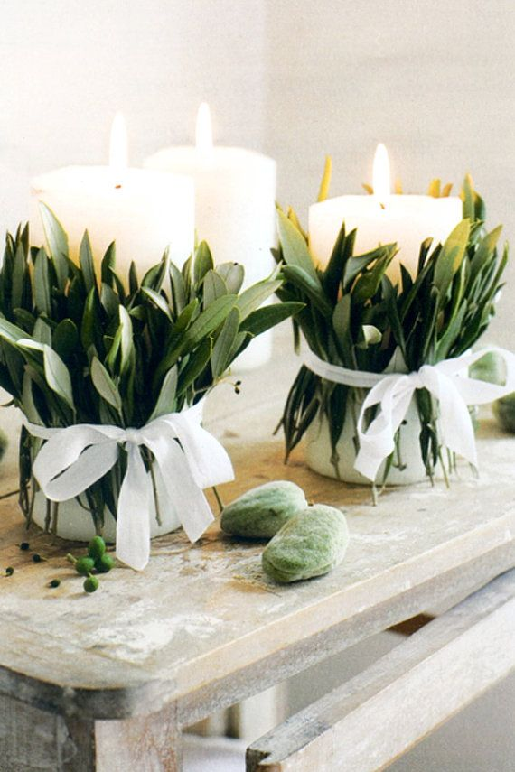 Свадьба - DIY CANDLE WRAPS For A Rustic Country Table