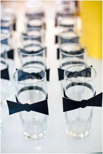 Свадьба - Bow Tie Drink Tags