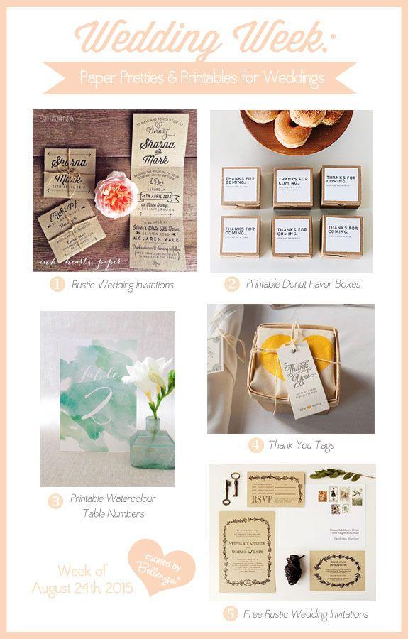 Wedding - Wedding Week: Pretty Paper & Printables For Fall Weddings!