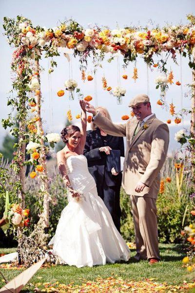 Mariage - 36 Fall Wedding Arch Ideas For Rustic Wedding