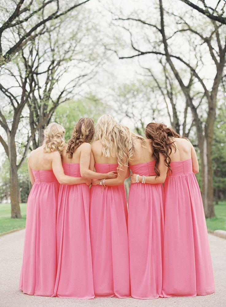 زفاف - Pink Bridesmaids Inspiration {Pinktober}