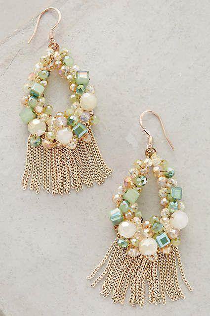 زفاف - Fringed Wreath Earrings