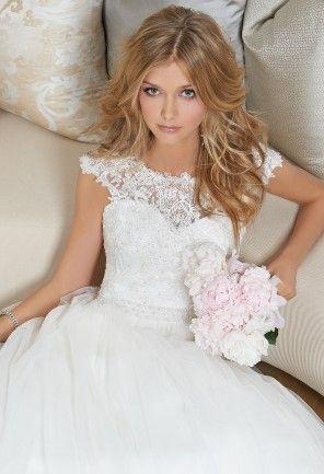 902de5c6fd26 Lace Cap Sleeve Wedding Dress From Camille La Vie And Group USA ...