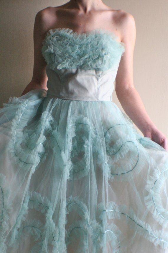 Свадьба - Vintage 1950s DREAM Dress
