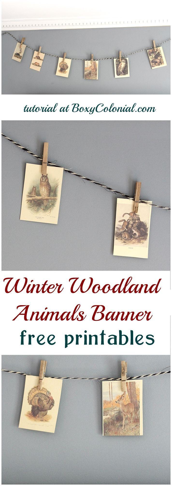 Wedding - Woodland Animals Banner: Dare To DIY -
