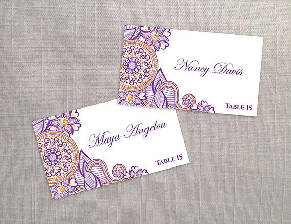 Diy Printable Wedding Place Name Card Template 2366276 Weddbook
