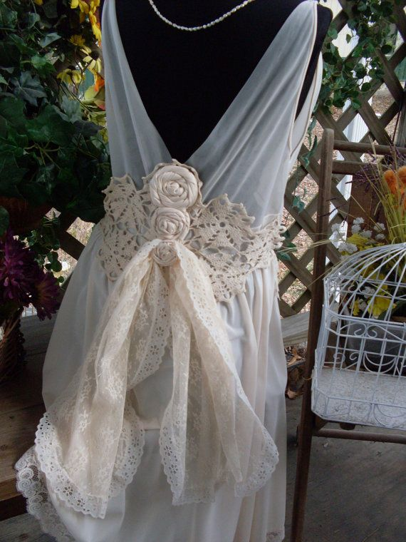 Wedding Dress Vintage Shabby Chic Gypsy Boho 2366405 Weddbook - Shabby Chic Wedding Dress