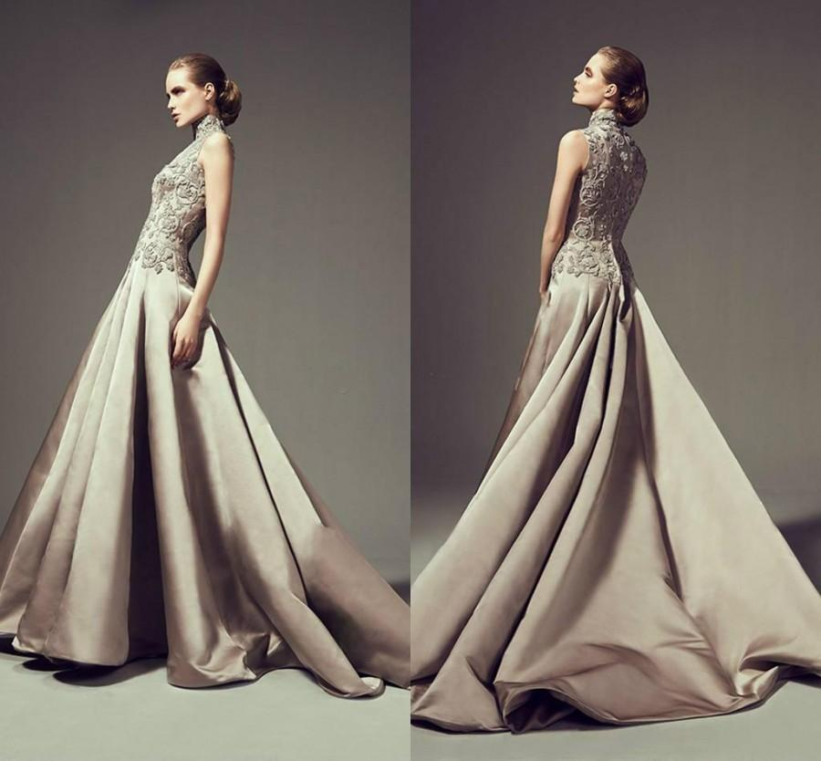 Vintage high neck sleeveless wedding dresses 2016 arabic for Wedding dress in dubai